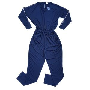 Venus Navy Blue Coveralls Jumpsuit Women's Size XS